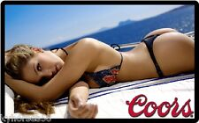 Coors Beer Sexy Beach Babe Refrigerator Magnet