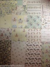 "8"" x 8"" 16 sheet taster pack IT'S A BOY baby card making scrapbook craft paper"