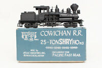 RARE HON3 BRASS PFM UNITED COWICHAN RR 25 TON SHAY SUPER DETAIL ATLAS JAPAN