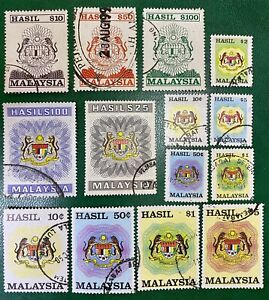 Malaysia 1975-1990 Revenue Stamps Used Assortment