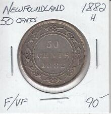 NEWFOUNDLAND 50 CENTS 1882 H - F/VF