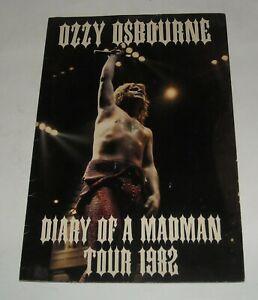 OZZY OSBOURNE DIARY of a MADMAN 1982 SOUVENIR CONCERT TOUR BOOK RANDY RHOADS