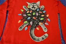 """Crazy Cat Christmas Lights"" Xmas Ugly Sweater By: Mad Engine Men's XX-Large NWT"