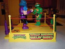 TMNT Totally Awesome Duelin' Dudes Mike Shredder Rock'em Sock'em Boxing RARE