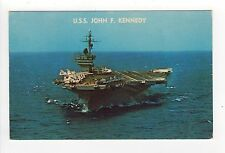 USS JOHN F KENNEDY PC Postcard JFK CV-67 CVA Aircraft Carrier US NAVY Naval
