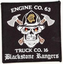 Illinois Chicago Engine 63 Truck 16 Blackstone Rangers Patch