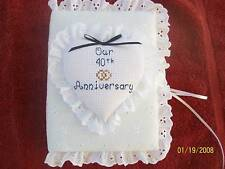 WEDDING / ANNIVERSARY  Personalized Eyelet Pocket Photo Album /  BRAG BOOK