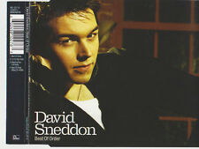 DAVID SNEDDON BEST OF ORDER CD SINGLE 3 TRACKS & CD-ROM VIDEO