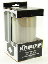 KROOZIE CUPS HYDRATION 2.0 STEEL BICYCLE DRINK CUP HOLDER, SILVER