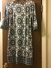 a pea in the pod maternity Dress Paisley Blue & White Quarter Length Sleeve XS