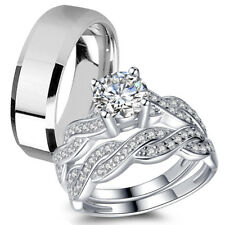 Sterling Silver Infinity Rings Women Stainless Steel Wedding Bands Free Shipping