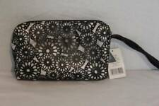 US SELLER New Womens Girls Fashion Clutch Silver Black Purse Handbag Cosmetics