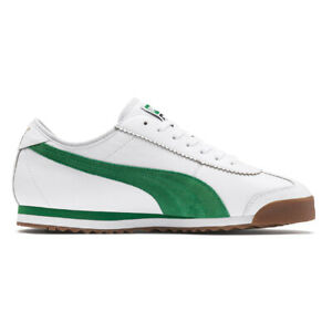 PUMA Men's Roma '68 OG Puma White/Amazon Green Sneakers 37060102 NEW!