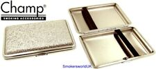 Cigarette Case -- Champ Small Silver Glitter 14 King Size -- NEW chks25