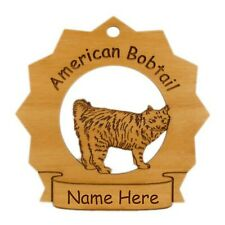 American Bobtail Standing Cat Ornament Personalized With Your Cat's Name 7013