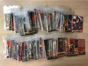 DC Versus Marvel Trading cards Base set single cards by Skybox Fleer 1995 1-100