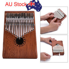AU 17Keys Mahogany wood Traditional Kalimba Mbira Thumb Piano with Alum Key