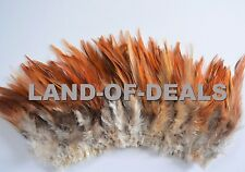120+ Rooster SADDLE feathers natural red brown small real feathers for crafts