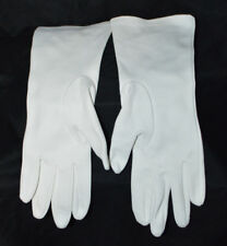 Crescendoe Womens White Nylon Crelon Gloves Size 6.5 Vintage