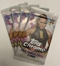 (4) Pack Lot 2020 Topps CHROME WWE Wrestling From Retail Blaster Box