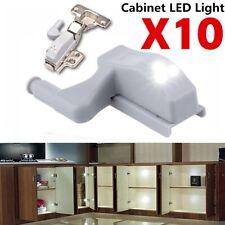 10x Scharnier LED Sensor Licht für Kleiderschrank Schrank Home Küche Schrank De