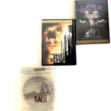 Lot 3 DVDs Widescreen Cape Fear Saw Stir Of Echos Horror Halloween Region 1 New