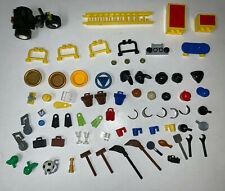 LEGO USED Minifigure Item Lot FOOD BACKPACK BIKE HEADWEAR CUPS PANS LADDER ETC