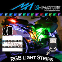 For Honda CBR300F CBR500R CBR650F CB300F 8x Multi Color LED Light Strip & Remote