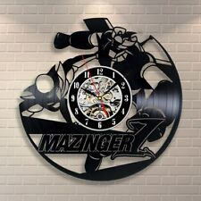 Mazinger Super Robot Vinyl Record Wall Art Clock Vintage Handmade Gift Clock