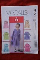 #M4701 McCALL'S Sewing PATTERN- Girls DRESSES. 6 LOOKS. Size 2-3-4-5yrs  New