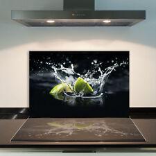 Herdabdeckplatten 80x52 cm Ceranfeld Abdeckung Glas Spritzschutz Obst Grün