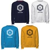 Jack & Jones Core Sweater Mens Chest Print Logo Casual Jumper Sweatshirt JCOClo
