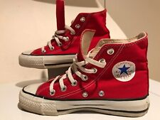 VINTAGE Converse Chuck Taylor MADE IN USA WOMENS 3 High Top OLD STOCK Red
