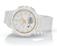 Casio Baby-G * BGS100GS-7A Runner Anadigi Step Tracker White & Gold Watch