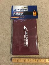 """Champro Adult Wristband Playbook Coach Triple-Play Maroon 4""""x6"""" New & Playcards"""