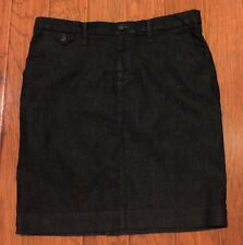 Womens Banana Republic Dark Blue Denim Pencil Skirt Sz M