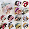 Womens Headband Twist Hairband Bow Knot Cross Tie Velvet Headwrap Hair Bands