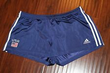 Adidas Team USA navy blue shorts w USA appliqued on Rear flag on front XL (b100)