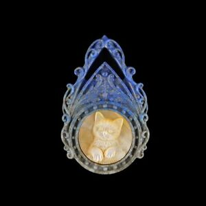 Carved Cat MOP Bead GL810003