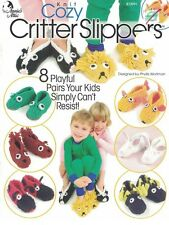 Annie's Attic Knit COZY CRITTER SLIPPERS Booklet 873991 8 Playful Pairs