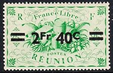 Lightly Hinged French Reunion Stamps