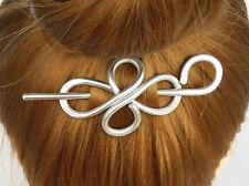 Metal Cross Hair Clip Stick Scarf Slide Shawl Pin Sweater Brooch womens Gift