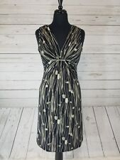 Women's Kenneth Cole Reaction Floral Gathered V Neck Sheath Dress Size XS EUC