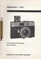 Kodak Reparaturanleitung für Retina S1 + S2 - Original Ausgabe