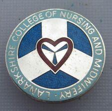 More details for nurses badge hospital badge lanarkshire college of nursing & midwifery hm silver