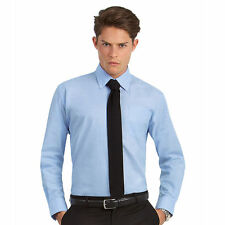 Men's Polycotton Button Down Long Sleeve Regular Casual Shirts & Tops
