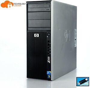 HP Z400 Workstation Intel Xeon W3520 @2.67GHz 8GB RAM 120GB SSD 2TB HDD Win 10