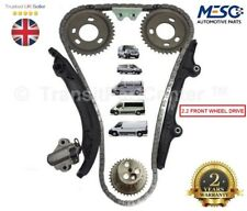 TIMING CHAIN KIT GEARS CHAIN GUIDES TENSIONER FORD TRANSIT MK7 MK8 2.2 2006 ON