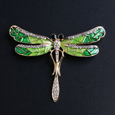 AL_ Women's Vintage Noble Crystal Dragonfly Brooch Pin Charming Jewelry Gift Hea