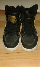 Mens Hi Top Trainers - Nike Force - Black With White & Gold - 4 UK / 36.5 EUR